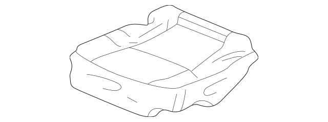 2001-2003 Acura CL COUPE Cover, L Rear Seat Cushion Trim
