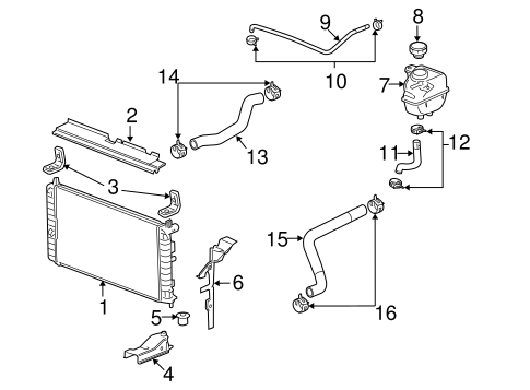 Radiator & Components for 2009 Saturn Aura