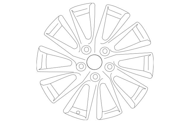 2018-2019 Toyota Camry Wheel, Alloy 42611-06E20