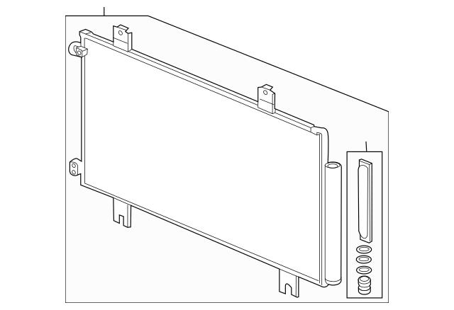 Genuine 2015-2017 Honda FIT 5-DOOR Condenser Assembly