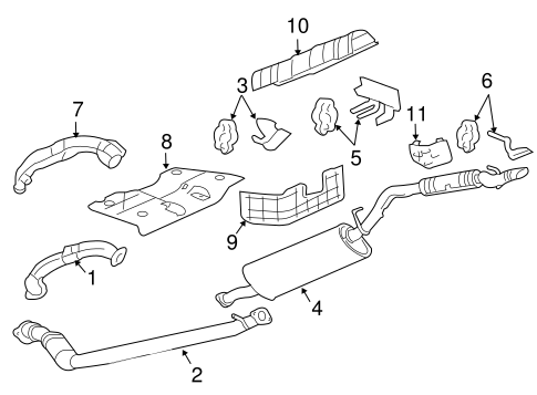 EXHAUST COMPONENTS for 2006 Pontiac Montana (SV6)