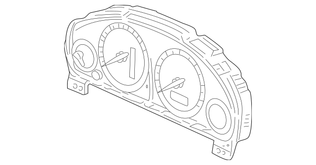 2004-2005 Honda CIVIC SEDAN Meter Assembly, Speed