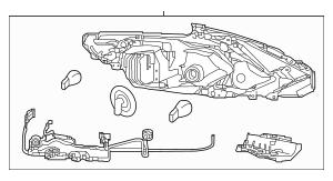 2016-2018 Nissan Altima Headlamp Assembly 26060-9HS9A