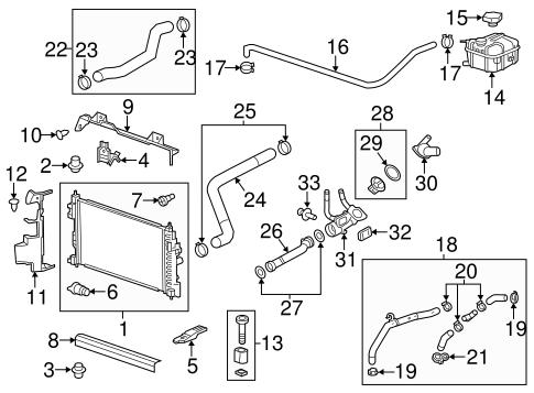 Radiator & Components for 2013 Chevrolet Malibu