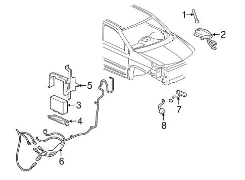 OEM 2003 Pontiac Aztek Electrical Components Parts