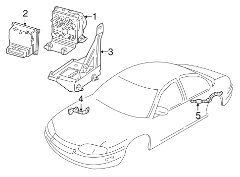 OEM ABS COMPONENTS for 2003 Chevrolet Monte Carlo