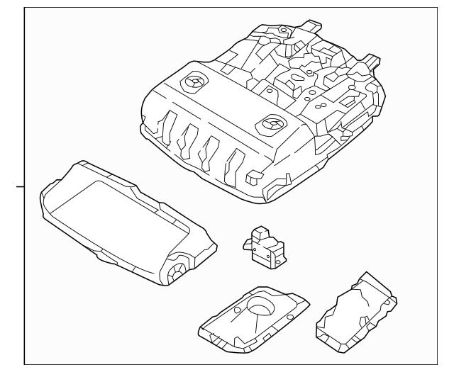 2016-2018 Hyundai Tucson Overhead Console 92810-D3010-YAK