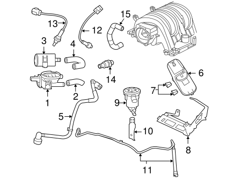 EMISSION COMPONENTS for 2005 Dodge Magnum