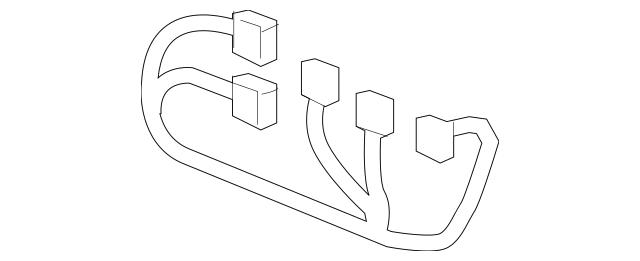 Genuine OEM 2007-2009 Saturn Outlook Wire Harness 20762639