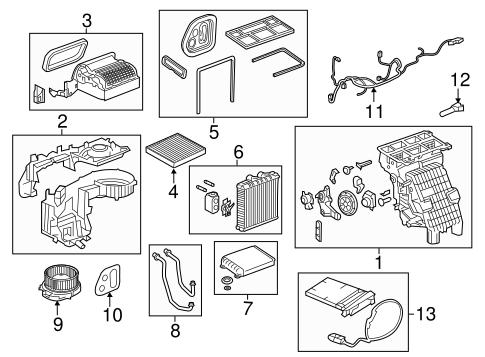 OEM Evaporator & Heater Components for 2017 Chevrolet
