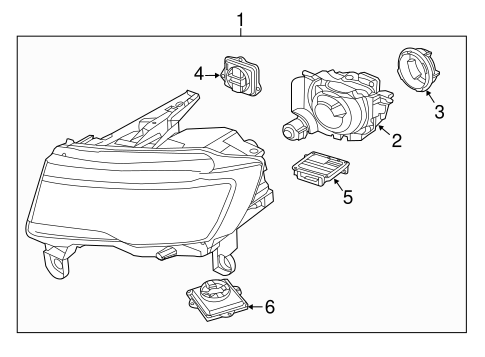 HEADLAMP COMPONENTS for 2015 Jeep Grand Cherokee