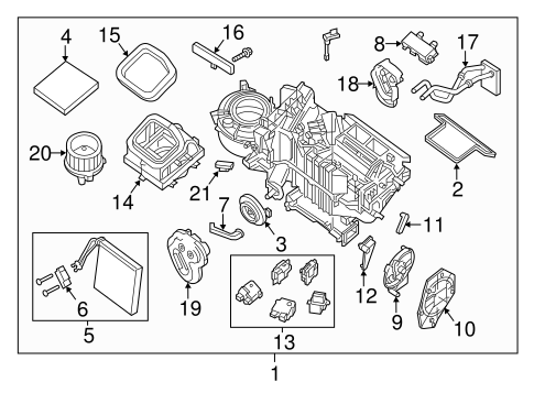 Evaporator & Heater Components for 2006 Nissan Frontier