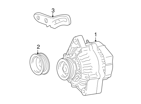 Alternator/Generator & Related Components for 2004 Scion