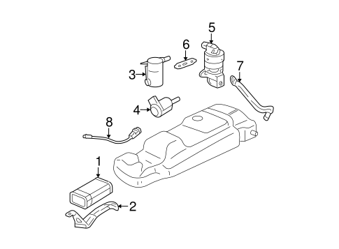 Emission Components for 2006 Buick Rendezvous