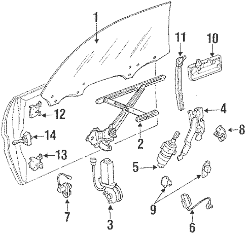 Genuine OEM Switches Parts for 1990 Toyota Supra Base