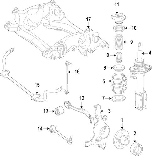 Suspension Components for 2012 Mercedes-Benz GLK 350