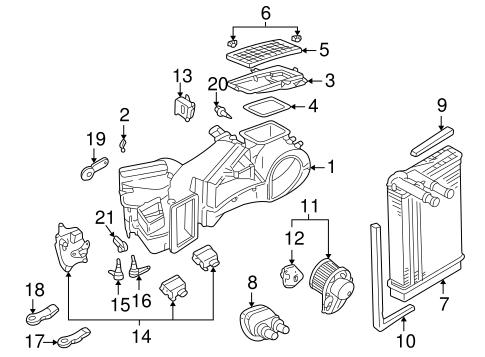 Evaporator & Heater Components for 2002 Volkswagen Passat