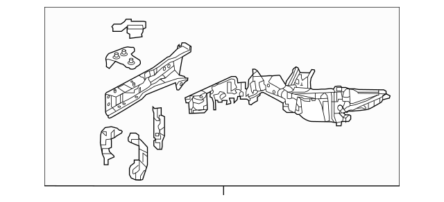 Discount Genuine OEM 2016-2017 Honda HR-V 5-DOOR Frame, R