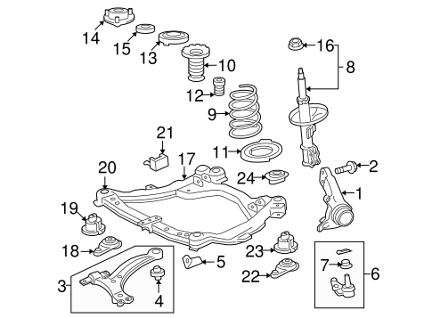 Genuine OEM Suspension Components Parts for 2010 Toyota