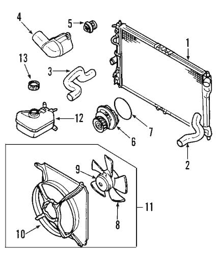 OEM 2010 Chevrolet Aveo Radiator & Components Parts