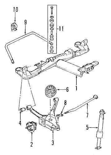 REAR SUSPENSION Parts for 1996 Buick Riviera