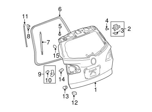 OEM 2013 Buick Enclave Gate & Hardware Parts