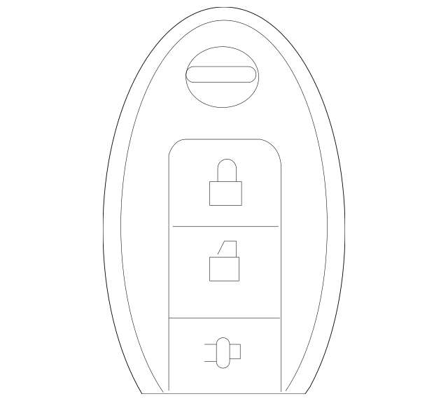 Genuine Remote Control Key Fob (Vehicles W/ I-Key) 285E3