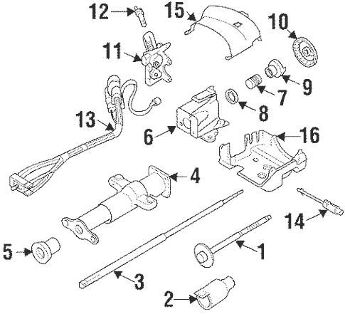 Steering Column Assembly for 1999 Chevrolet Suburban K1500