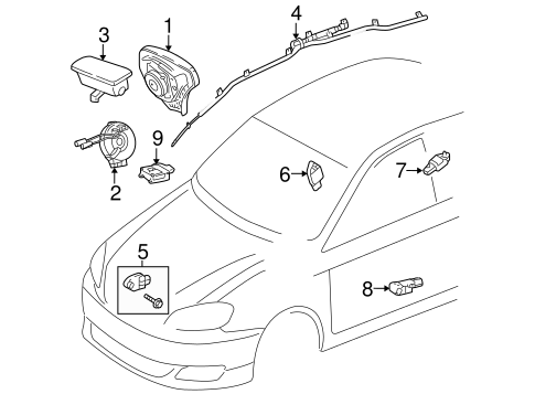Genuine OEM Air Bag Components Parts for 2005 Toyota