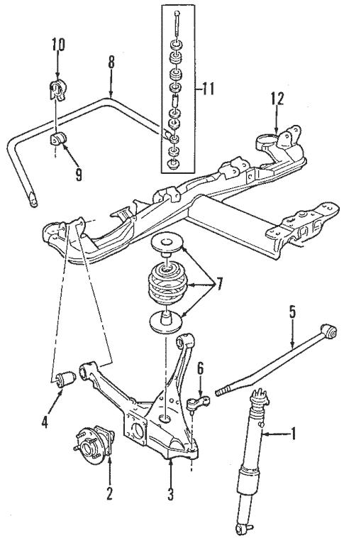 OEM 2003 Buick Park Avenue Rear Suspension Parts