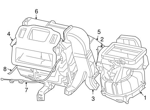 Evaporator & Heater Components for 2007 Chrysler PT