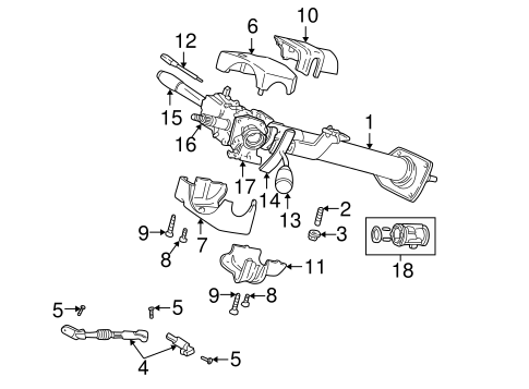 STEERING COLUMN ASSEMBLY for 1999 Dodge Durango