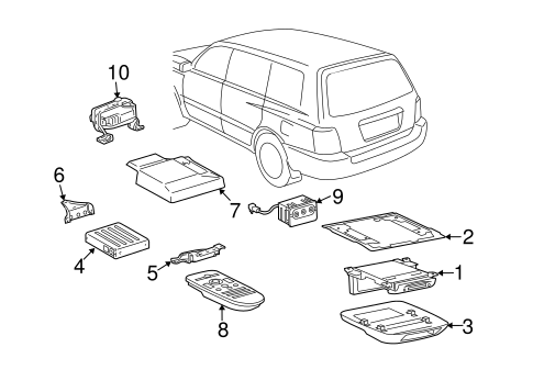 Genuine OEM Entertainment System Components Parts for 2007