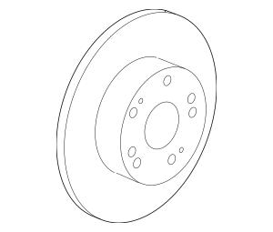 2014-2015 Acura RLX SEDAN Disk, Rear Brake 42510-TY2-A00