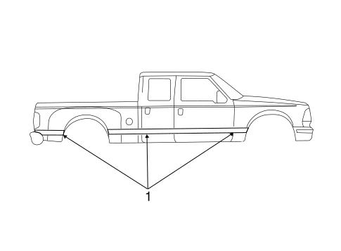 OEM 2004 Ford F-250 Super Duty Stripe Tape Parts