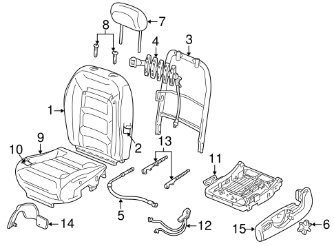 Front Seat Components for 2001 Ford Explorer Sport Trac
