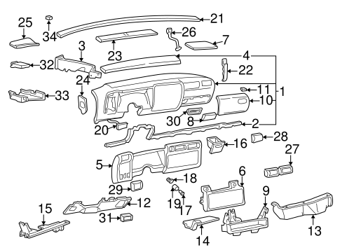 OEM INSTRUMENT PANEL for 1997 Oldsmobile Bravada