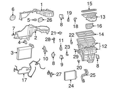 Evaporator & Heater Components for 2006 Jeep Grand