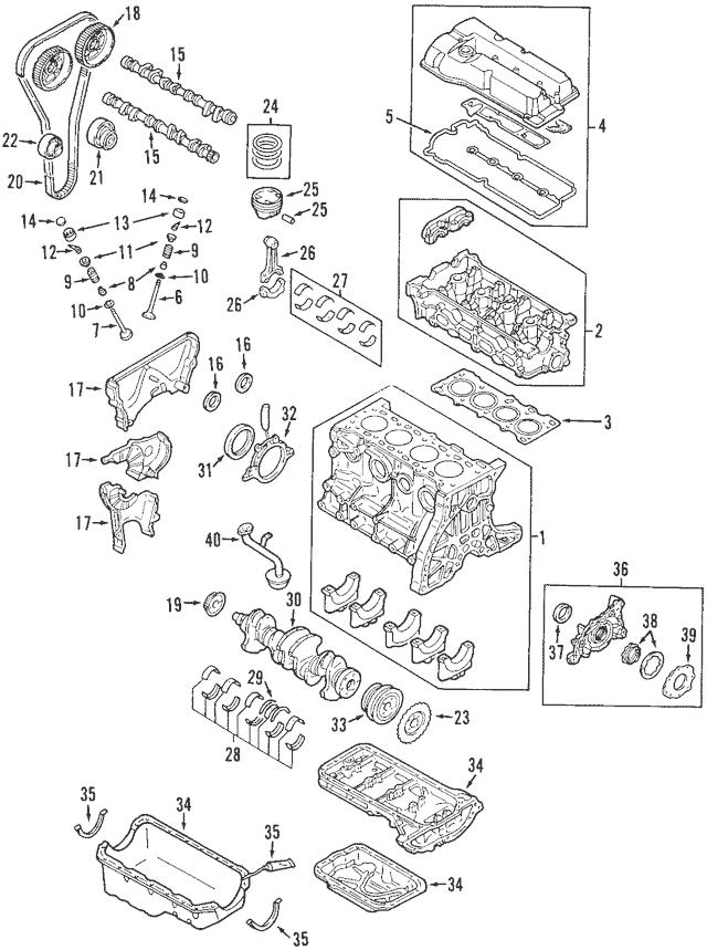 1999-2001 Mazda Protege Crankshaft Gear Z502-11-321