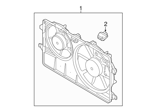 OEM 2013 Ford Transit Connect Cooling Fan Parts