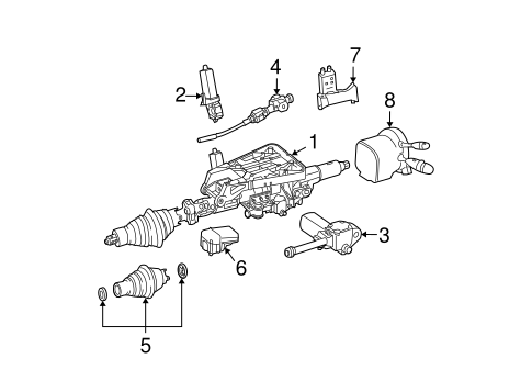 Steering Column Assembly for 2011 Mercedes-Benz E 63 AMG