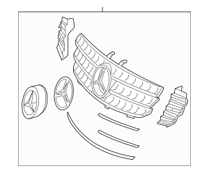 2007-2008 Mercedes-Benz ML 63 AMG® Grille Assembly 164-880