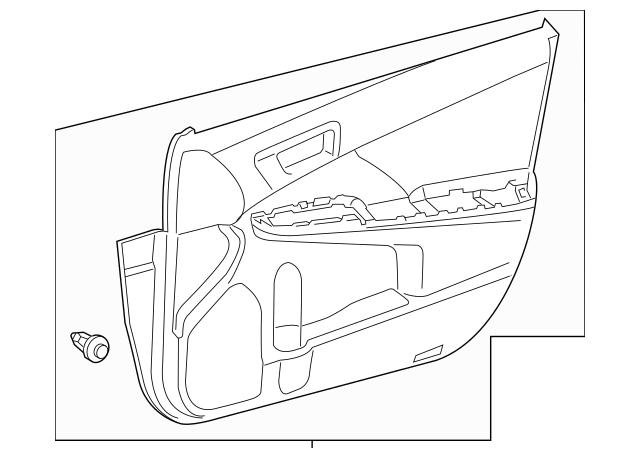 2013-2014 Toyota Camry Door Trim Panel 67610-06K80-C0