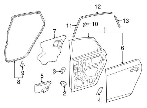 Genuine OEM Door & Components Parts for 2011 Toyota Prius