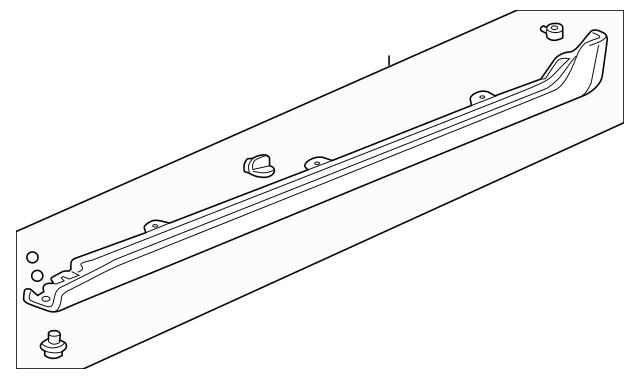 2004-2005 Acura TSX SEDAN Garnish Assembly, R Side Sill