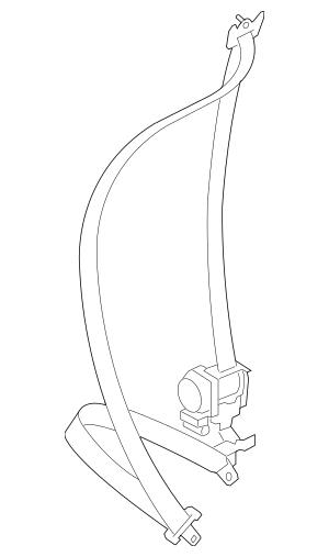 Genuine OEM Seat Belt Assembly Part# 64621AG25AWA Fits