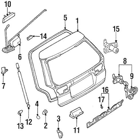 Trunk for 1999 Subaru Legacy