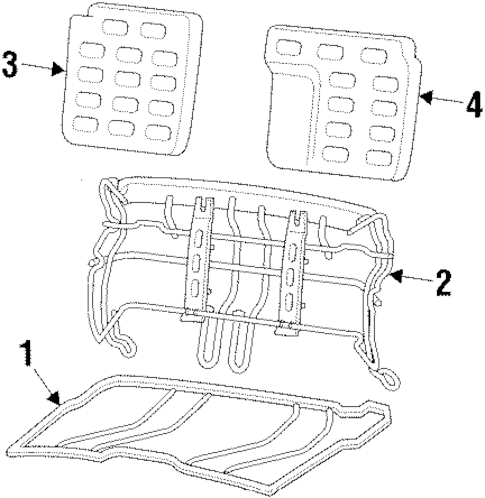 Rear Seat Components for 1996 Chevrolet Beretta