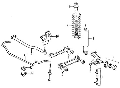 SUSPENSION COMPONENTS for 1999 Jeep Cherokee
