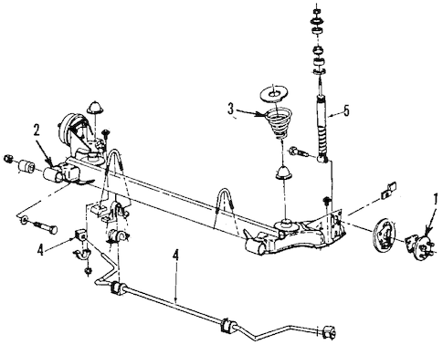 REAR SUSPENSION for 1989 Chevrolet Cavalier (Z24)